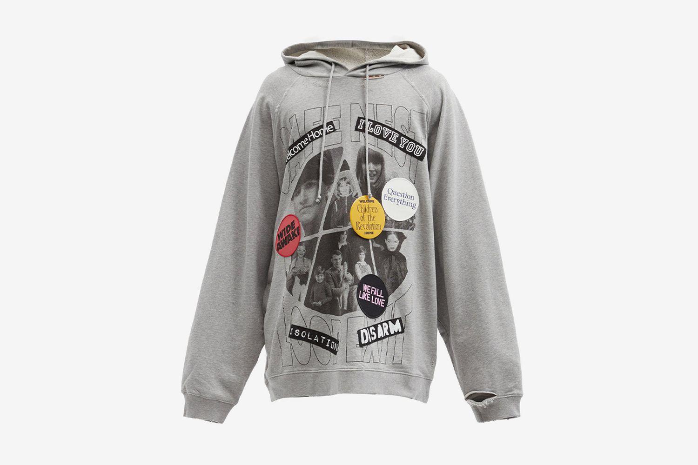 Oversized Cotton Hooded Sweatshirt