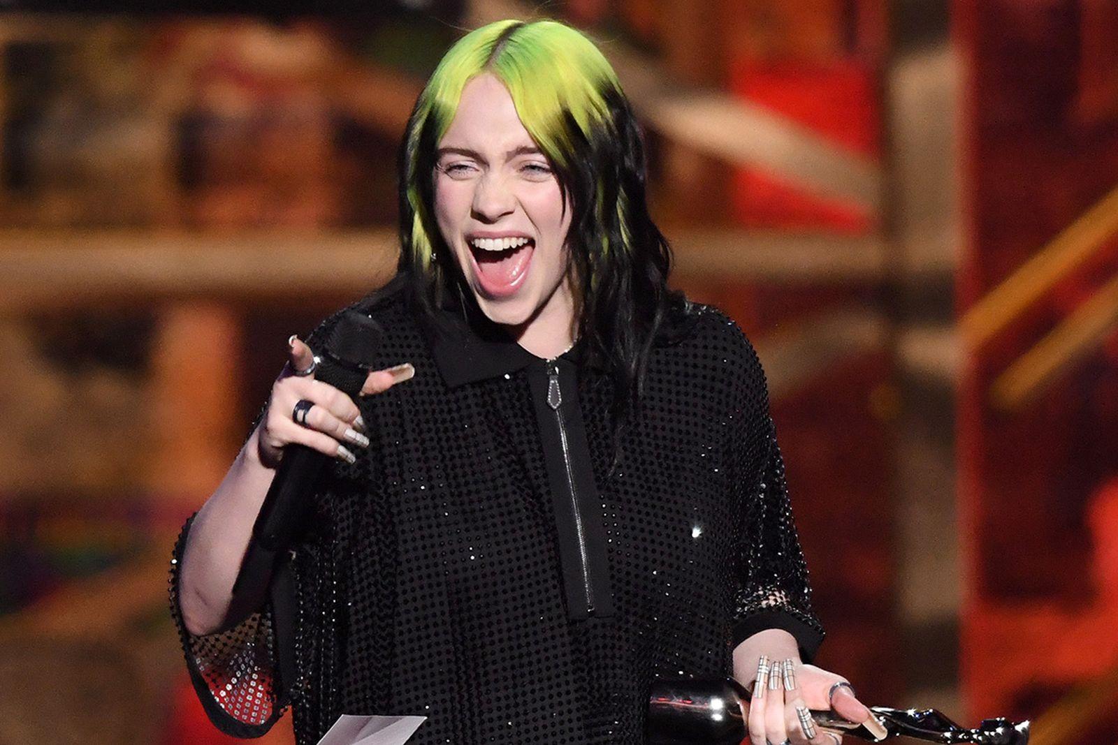 Billie Eilish wins the International Female Solo Artist award