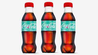 3 bottles coca-cola green label