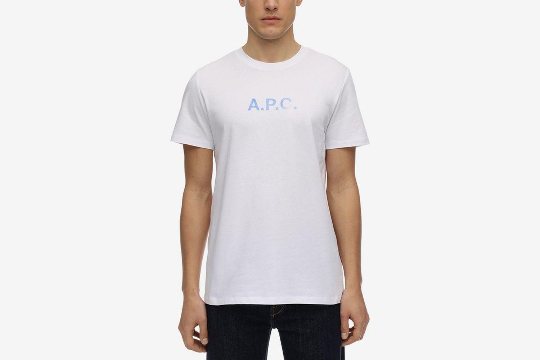 Logo Vintage Effect Cotton T-Shirt