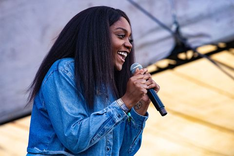 noname performing jeans jacket