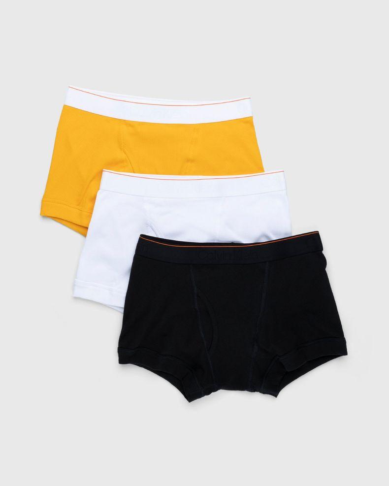 Heron Preston for Calvin Klein - Mens Trunk 3 Pack Black Sunflower White