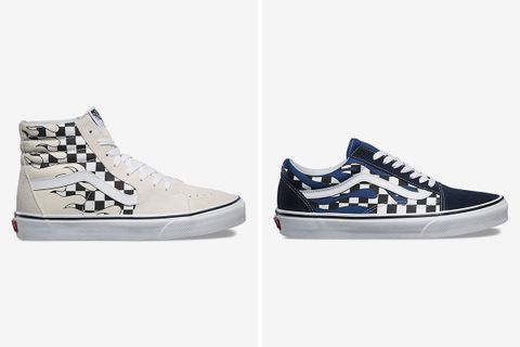 77ee9f92bb New Vans Pack Mixes Checkerboard and Flame Patterns