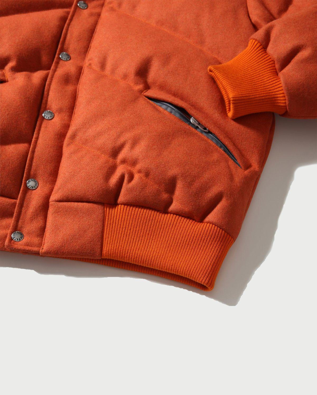 The North Face Brown Label — Larkspur Wool Down Jacket Heritage Orange Men - Image 4