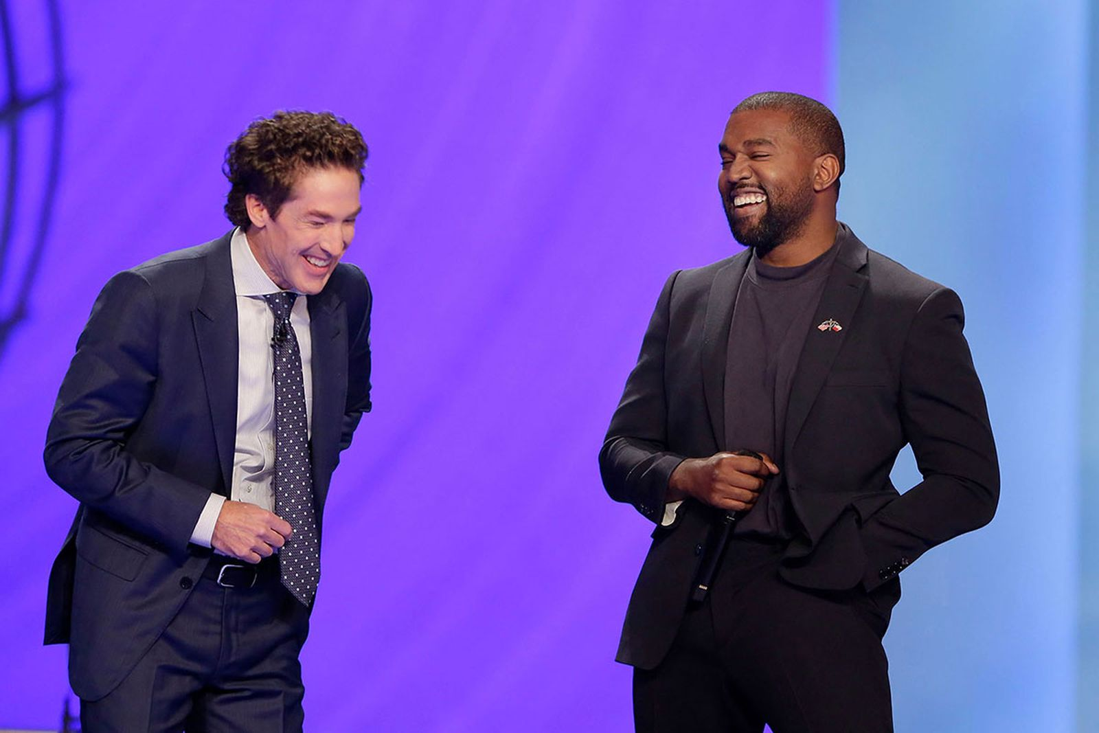 Kanye West and Joel Osteen