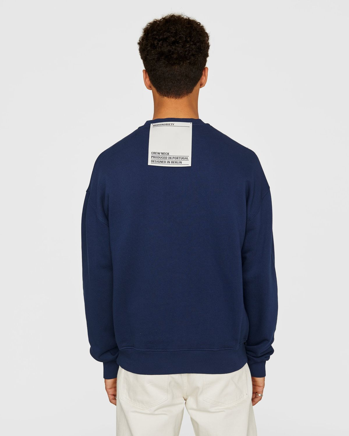 Highsnobiety Staples — Sweatshirt Navy - Image 3
