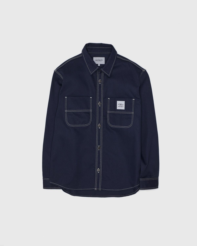Carhartt WIP x Ljubav —  Chalk Shirt Jac Navy - Image 2