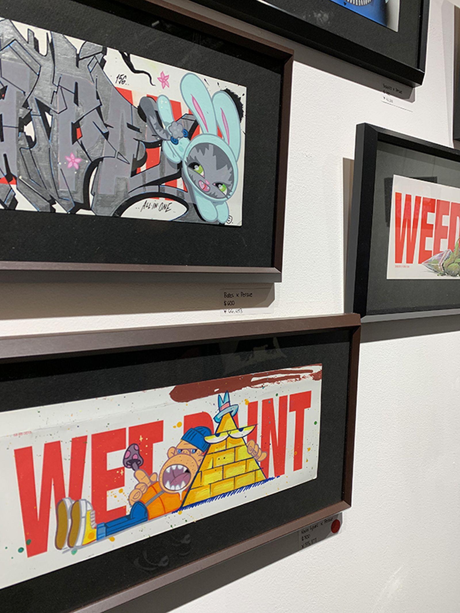 dc shoes persue wet paint tokyo art show kevin lyons stash