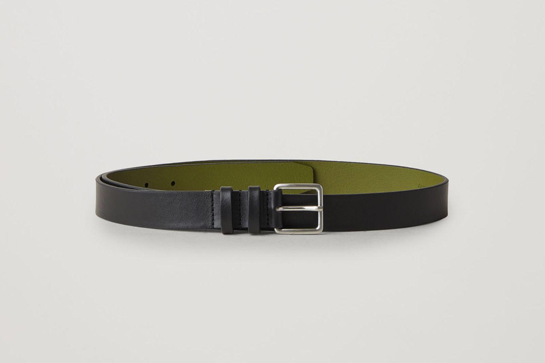 Contrast Leather Belt