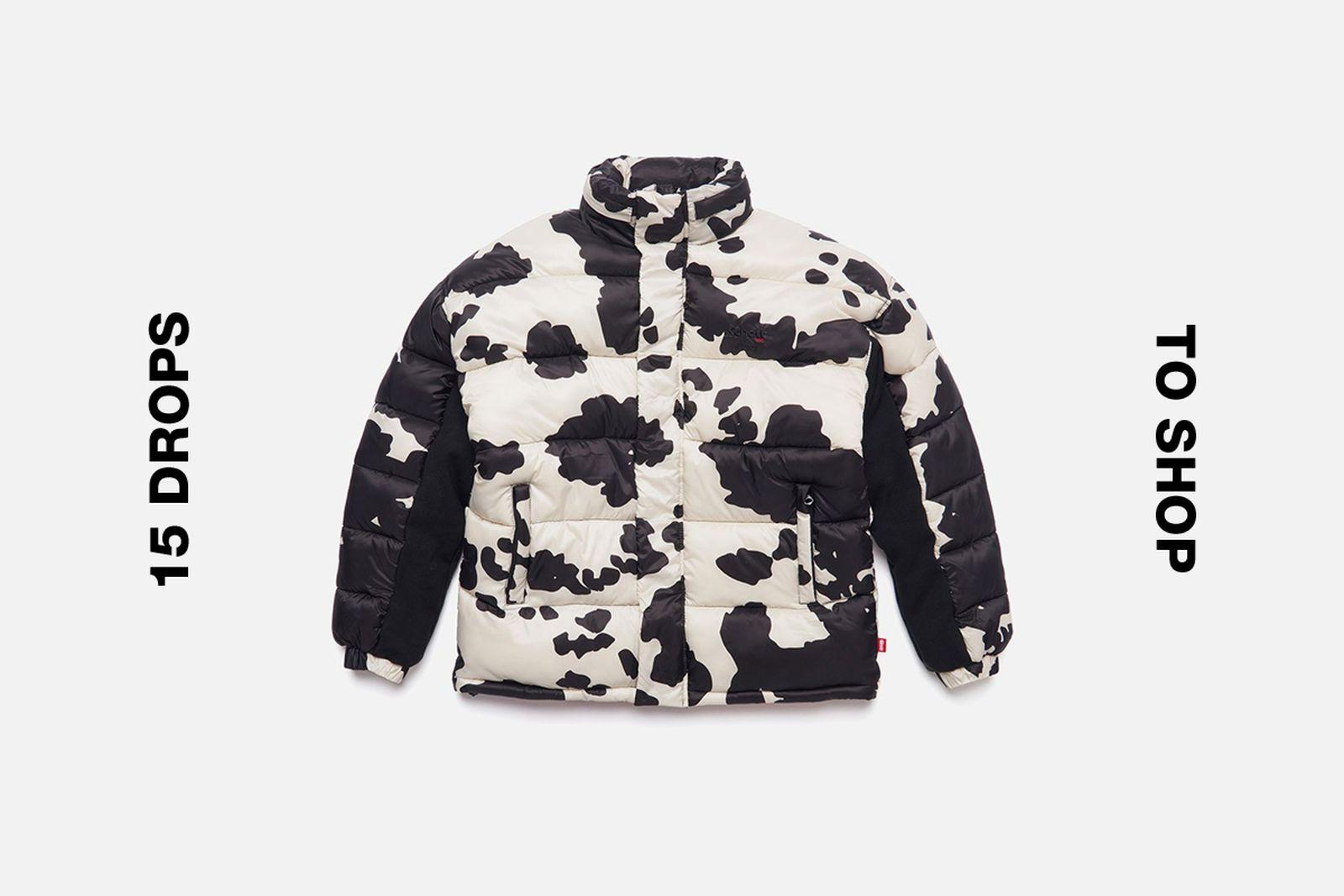 Schott Cow Print Puffer Jacket