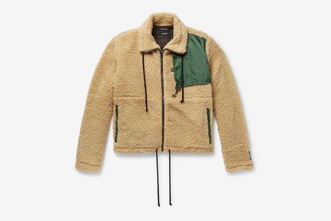 Ripstop-Trimmed Fleece Jacket