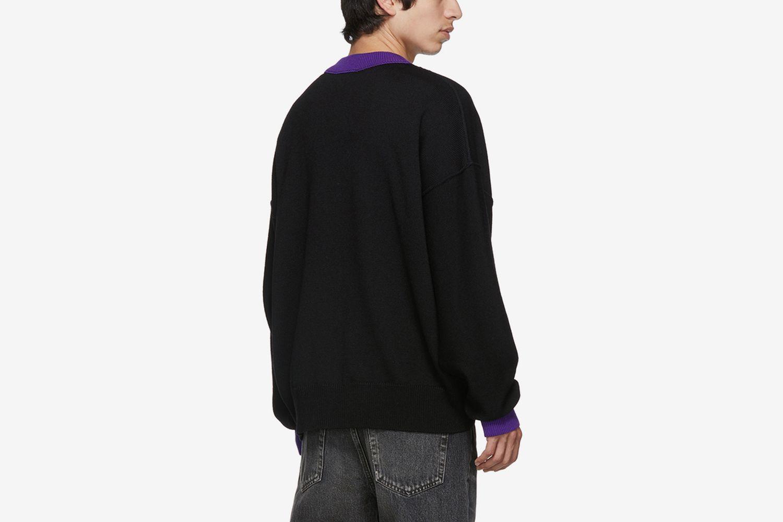 Fringed Logo Sweater