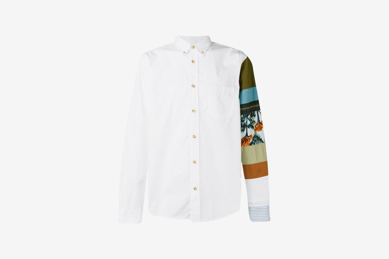 Multi Fabric Sleeve Shirt