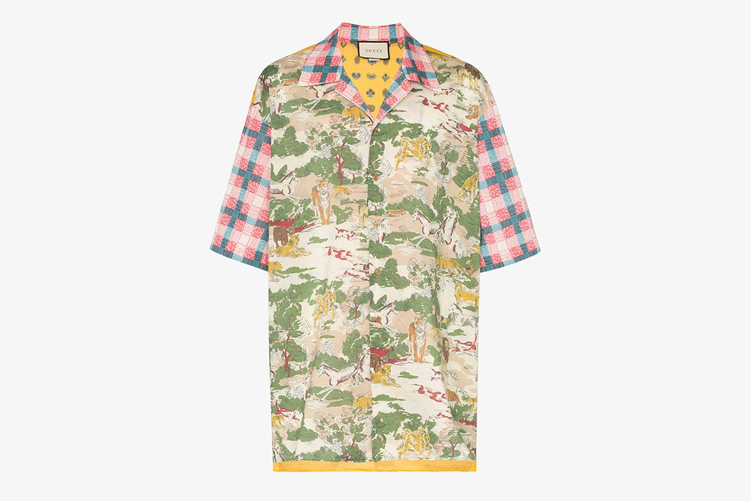 Oversize Printed Cotton Bowling Shirt