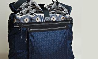 Lanvin Oversize Printed Messenger Bag