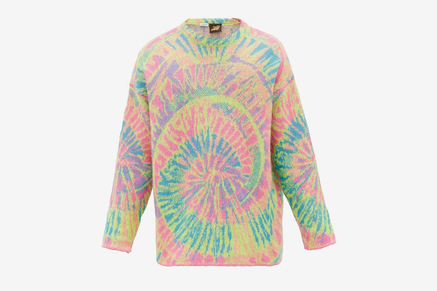 Psychedelic-Jacquard Mohair-Blend Sweater