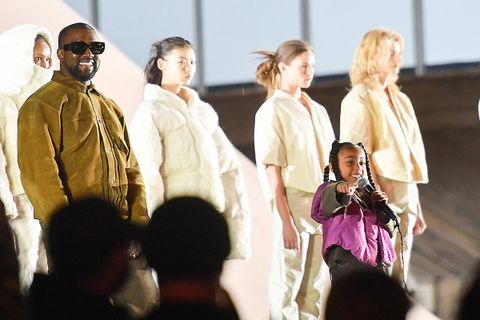 North West rapping Yeezy Season 8 Show Paris