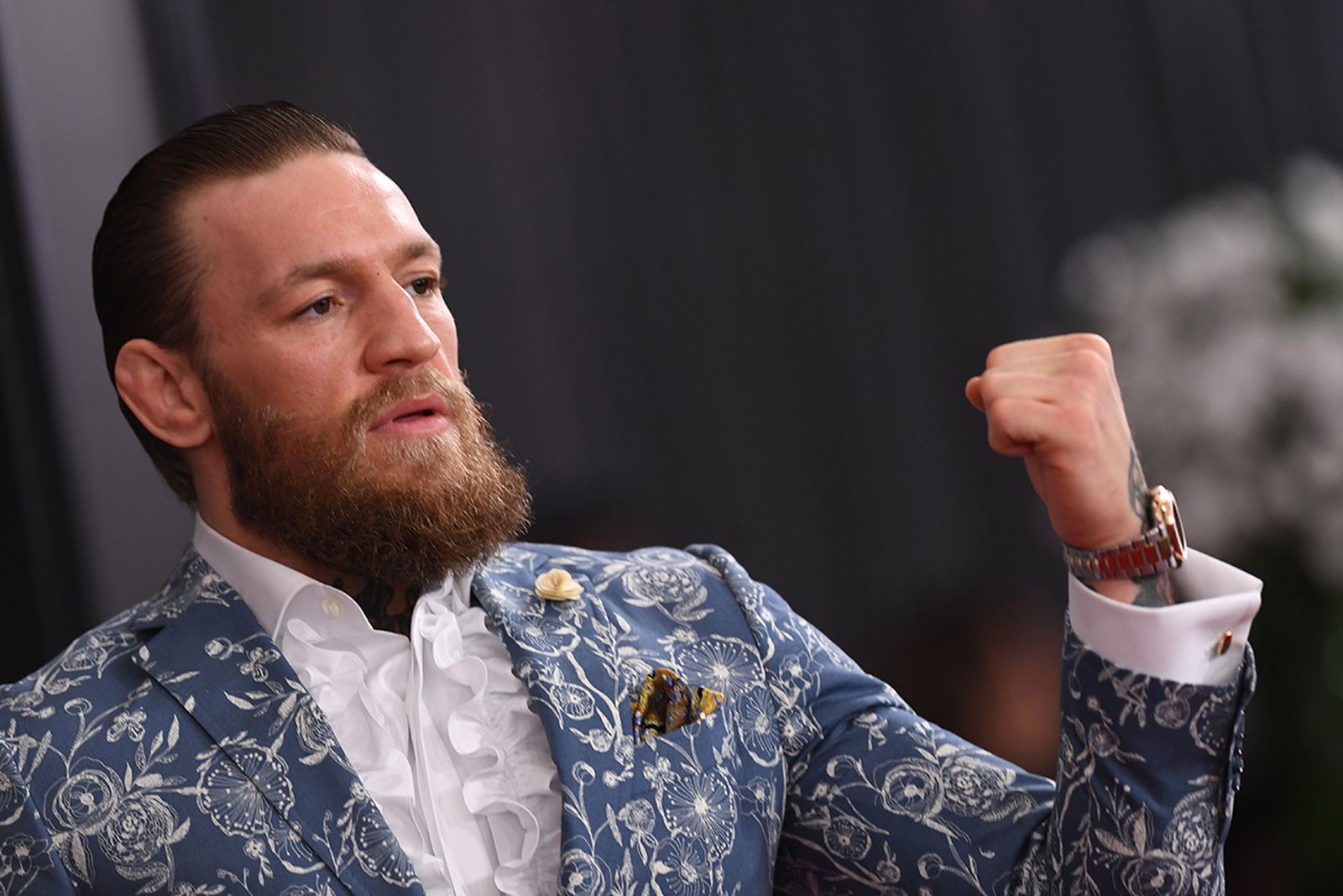 Conor McGregor arrives for the 62nd Annual Grammy Awards