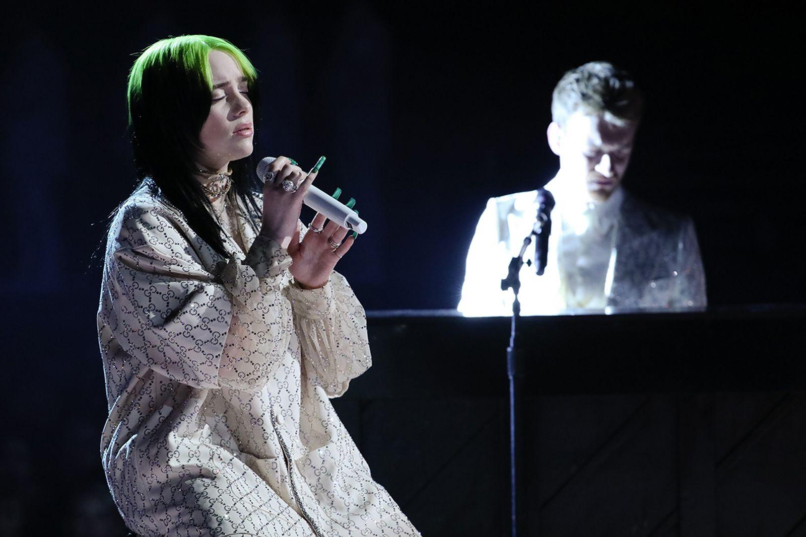 Billie Eilish performing Grammys