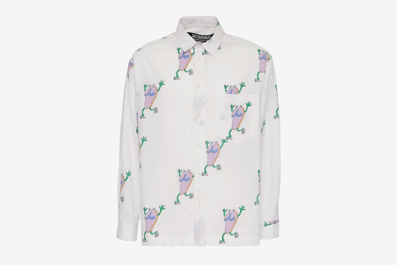 Reversible Flip Flops Print Shirt
