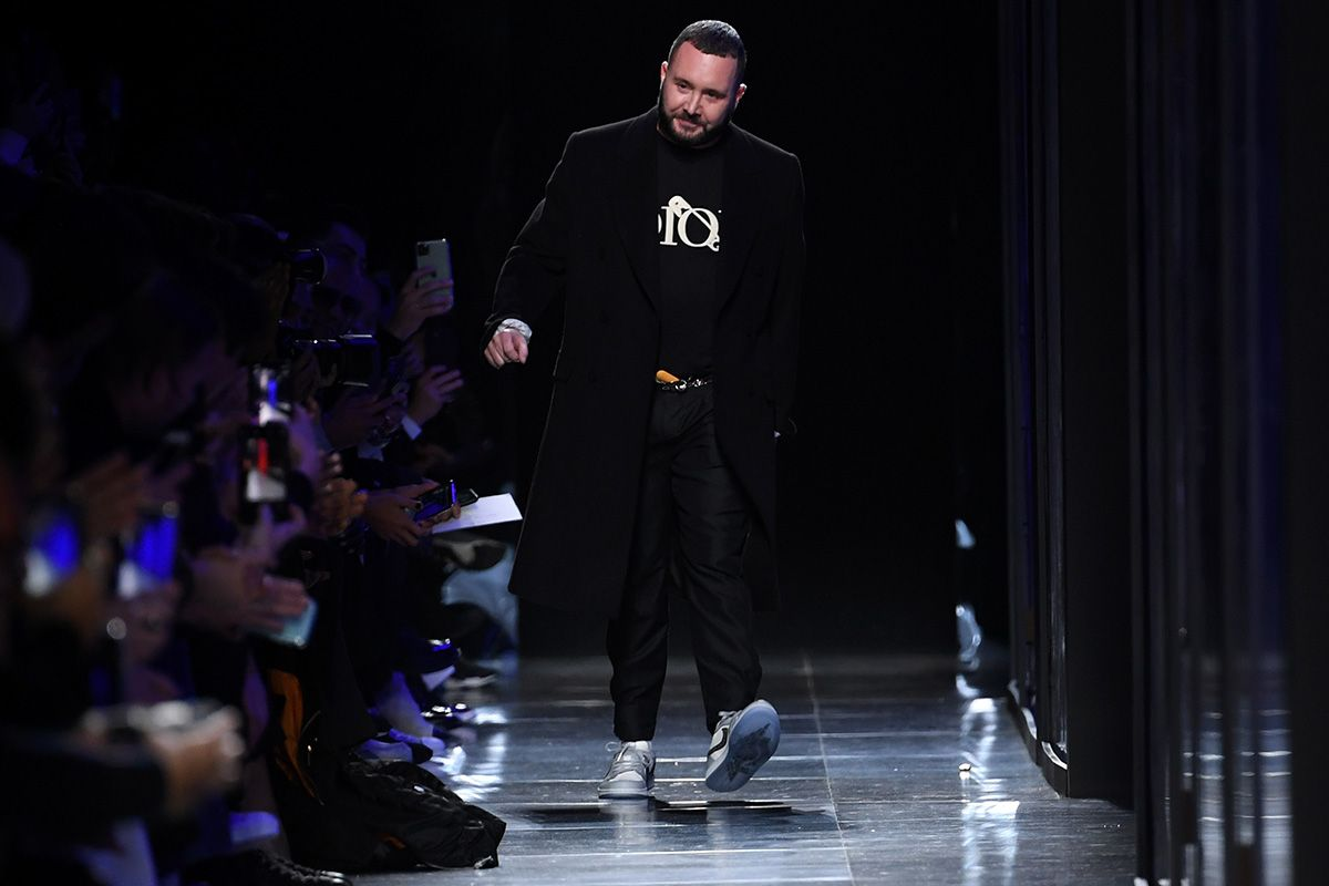 Fashion designer Kim Jones walks the runway during the Dior Homme Menswear Fall/Winter 2020-2021 show