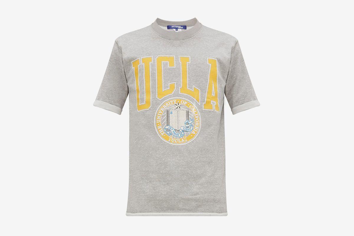 UCLA Print Flecked Cotton Blend T Shirt