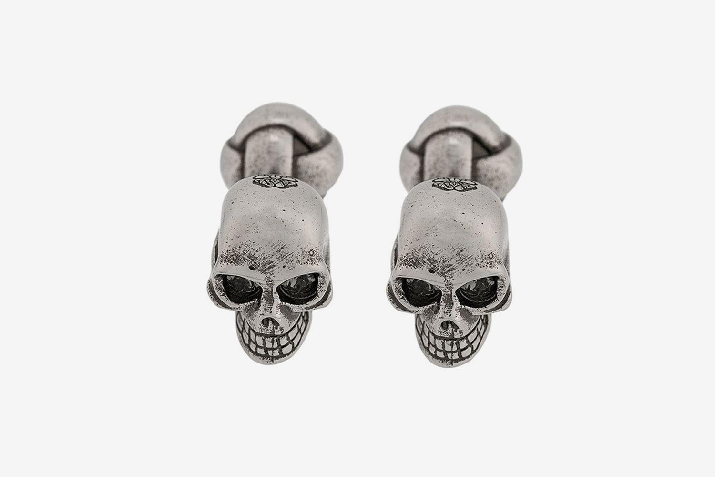Engraved Skull Cufflinks