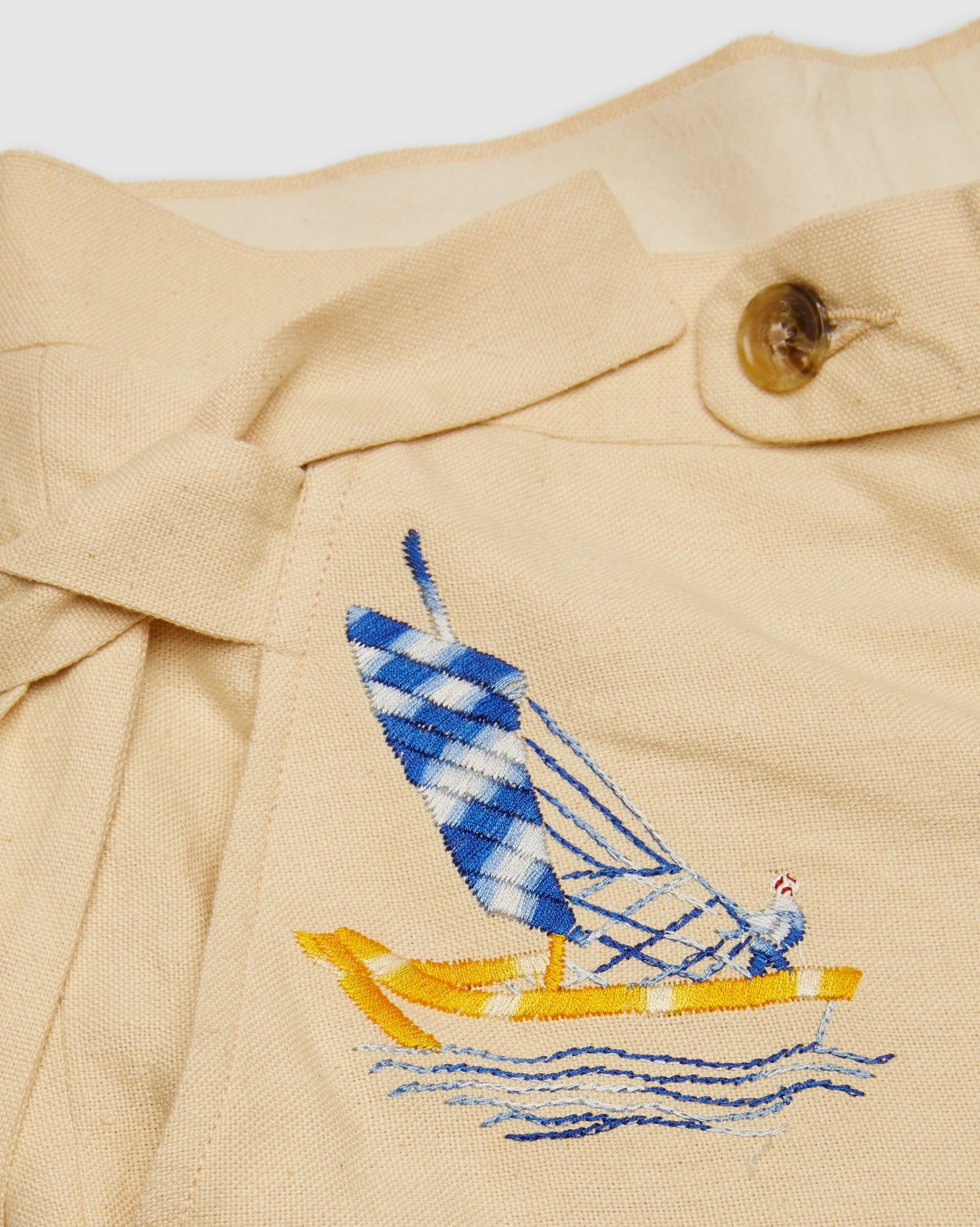 BODE - Sailing Tableau Trousers Tan - Image 3