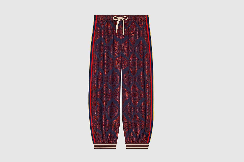 Bi-Material Harem Style Pant
