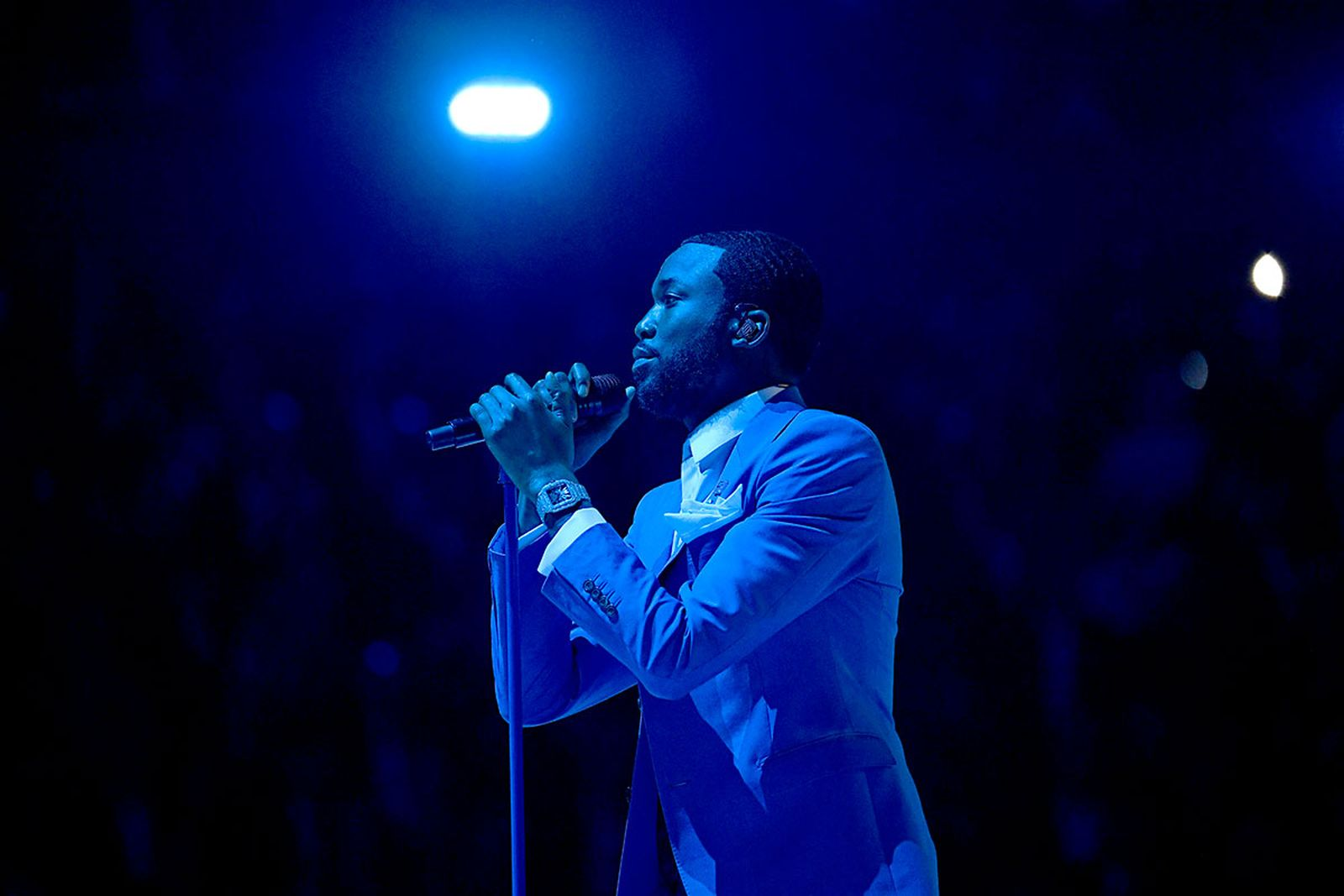 Meek Mill performs onstage during the 62nd Annual GRAMMY Awards