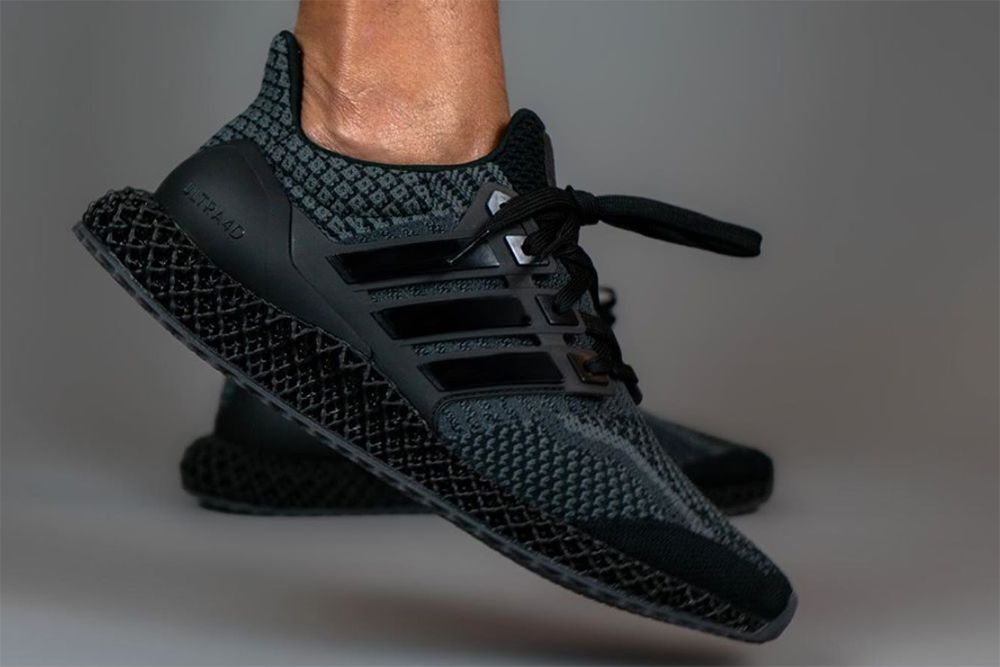 """adidas' Ultra 4D Arrives in a Stealthy """"Triple Black"""" Colorway"""