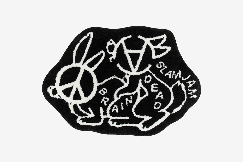 Slam Jam Anarchy Bunny Love Rug