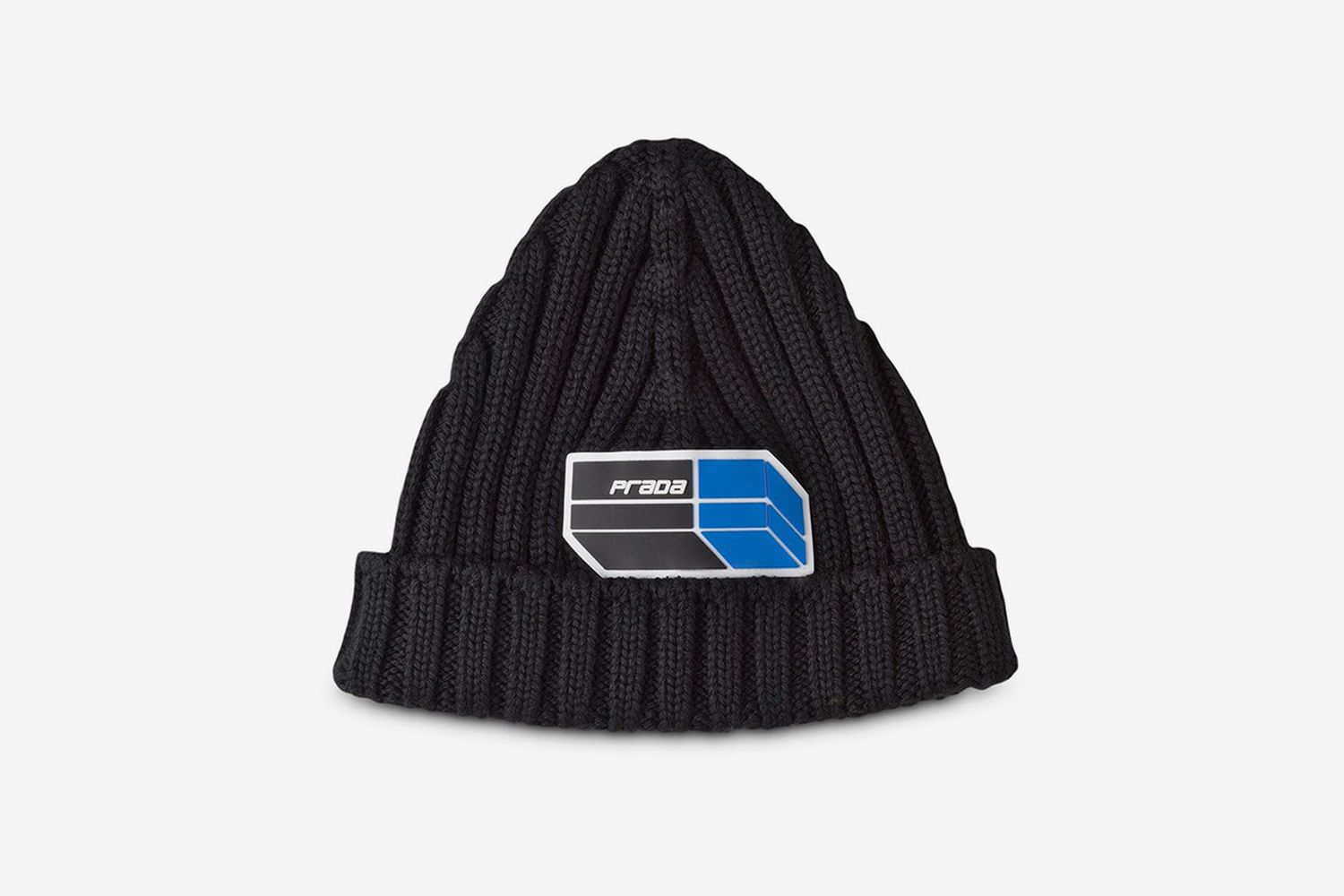 Wool Beanie With Patch