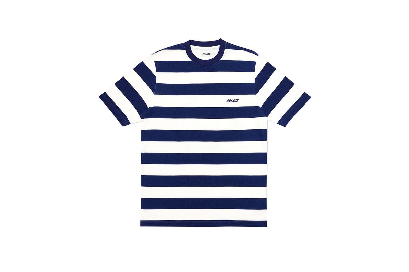 Palace 2019 Autumn T Shirt Heavy Stripe navy front