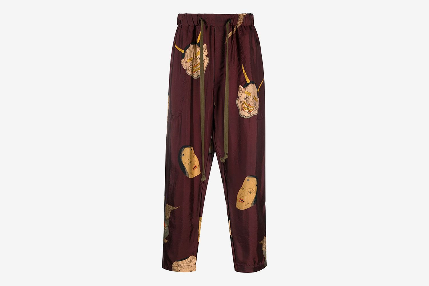 Printed Tied-Waist Trousers