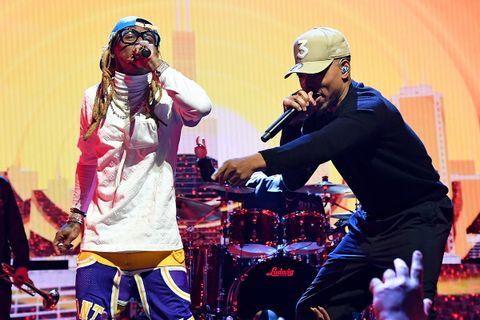 Chance the Rapper Lil Wayne onstage