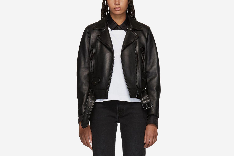 Leather Mock Jacket
