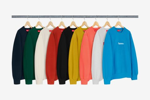 6c6ea559f03 Here's How Quickly Supreme's FW18 Box Logo Crewnecks Sold Out