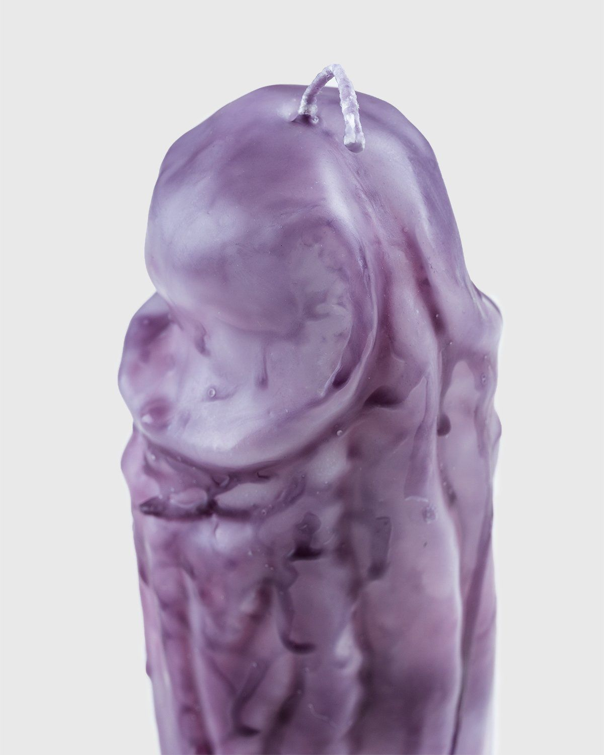 Laura Welker – Hand Carved Wax Candle Purple - Image 3