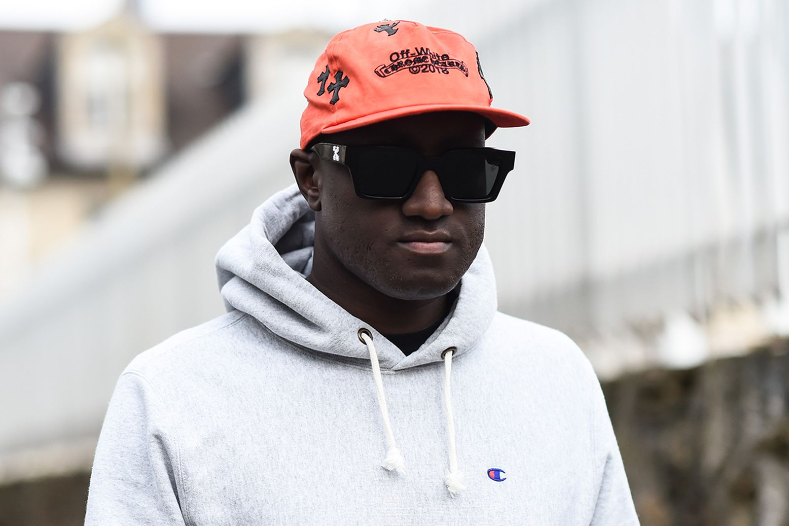 Virgil Abloh Off-White hat sunglasses hoodie