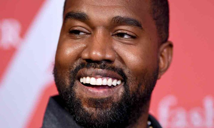 Kanye West smiling 2019 FGI Night Of Stars Gala