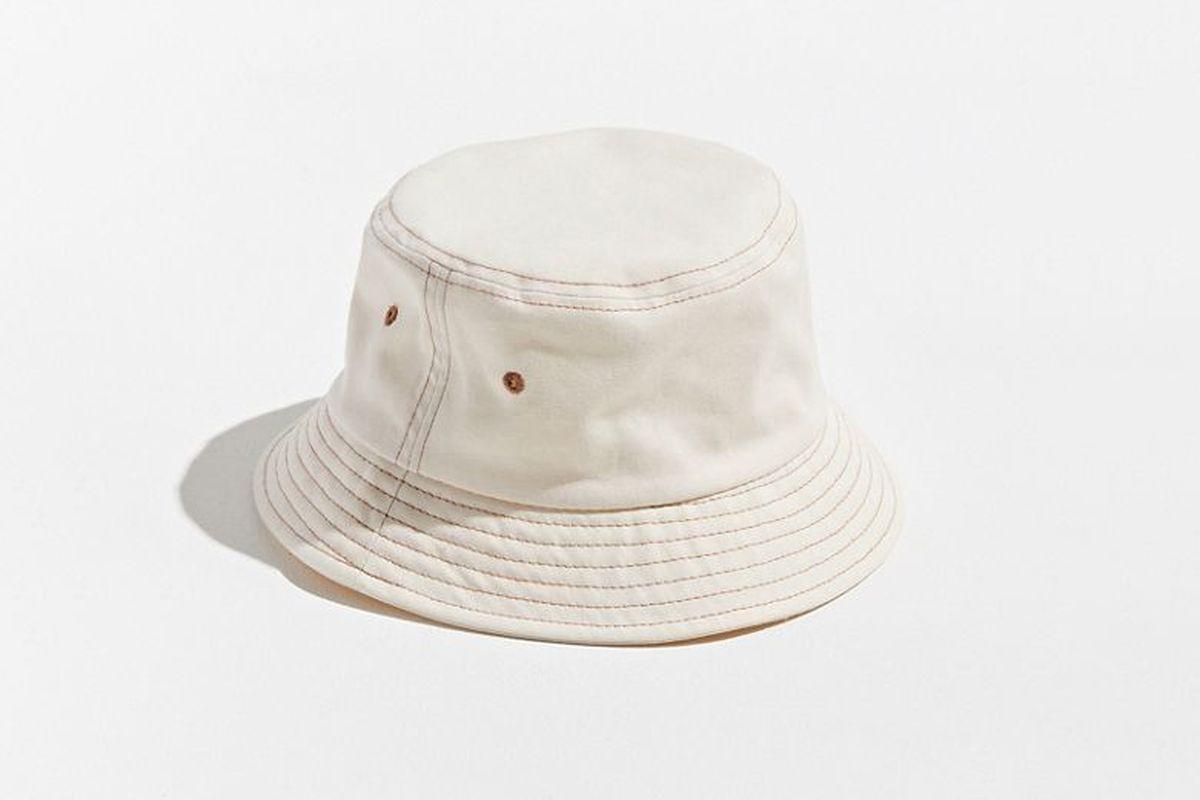 Contrast Stitch Bucket Hat