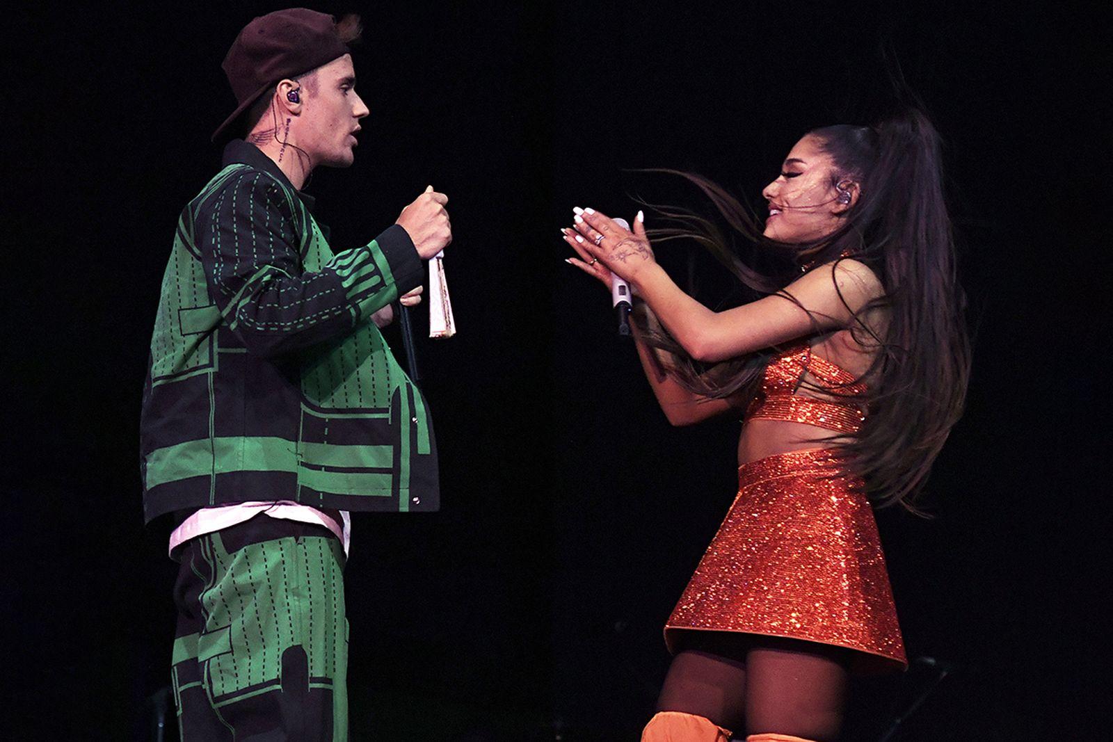 Ariana Grande S Boyfriend Cameos In Stuck With U W Justin Bieber
