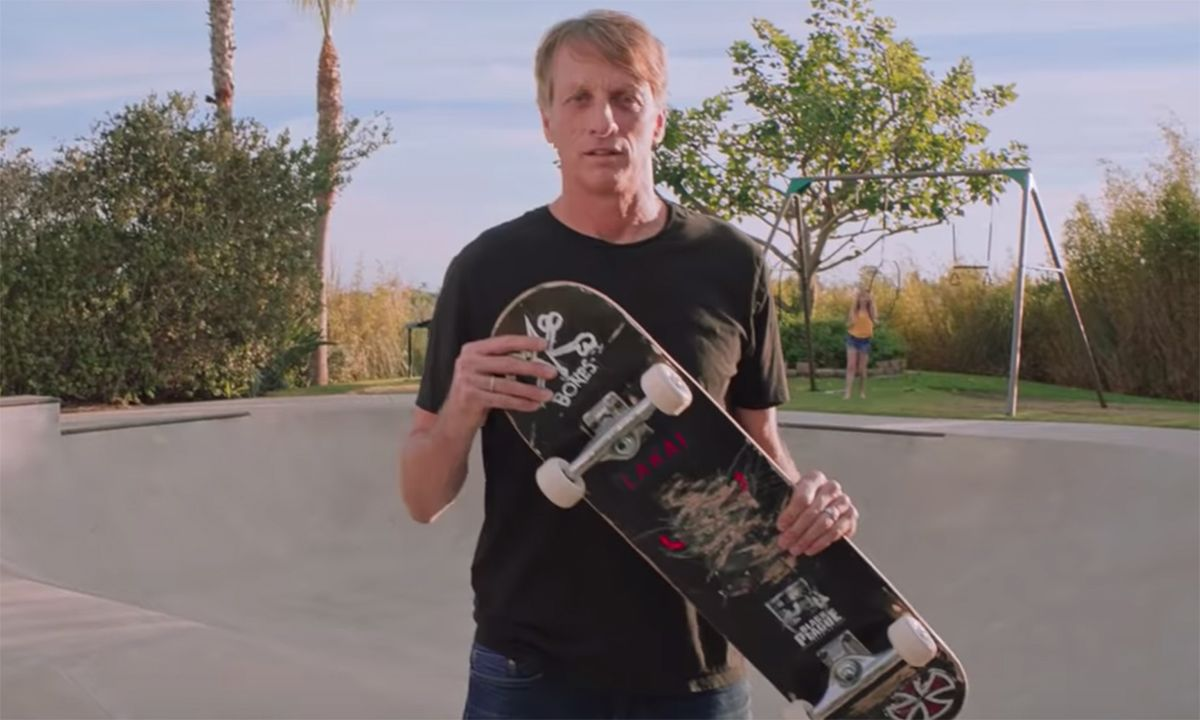 Tony Hawk Shows Off His First Skateboard & Talks About How the Video Games Changed His Life