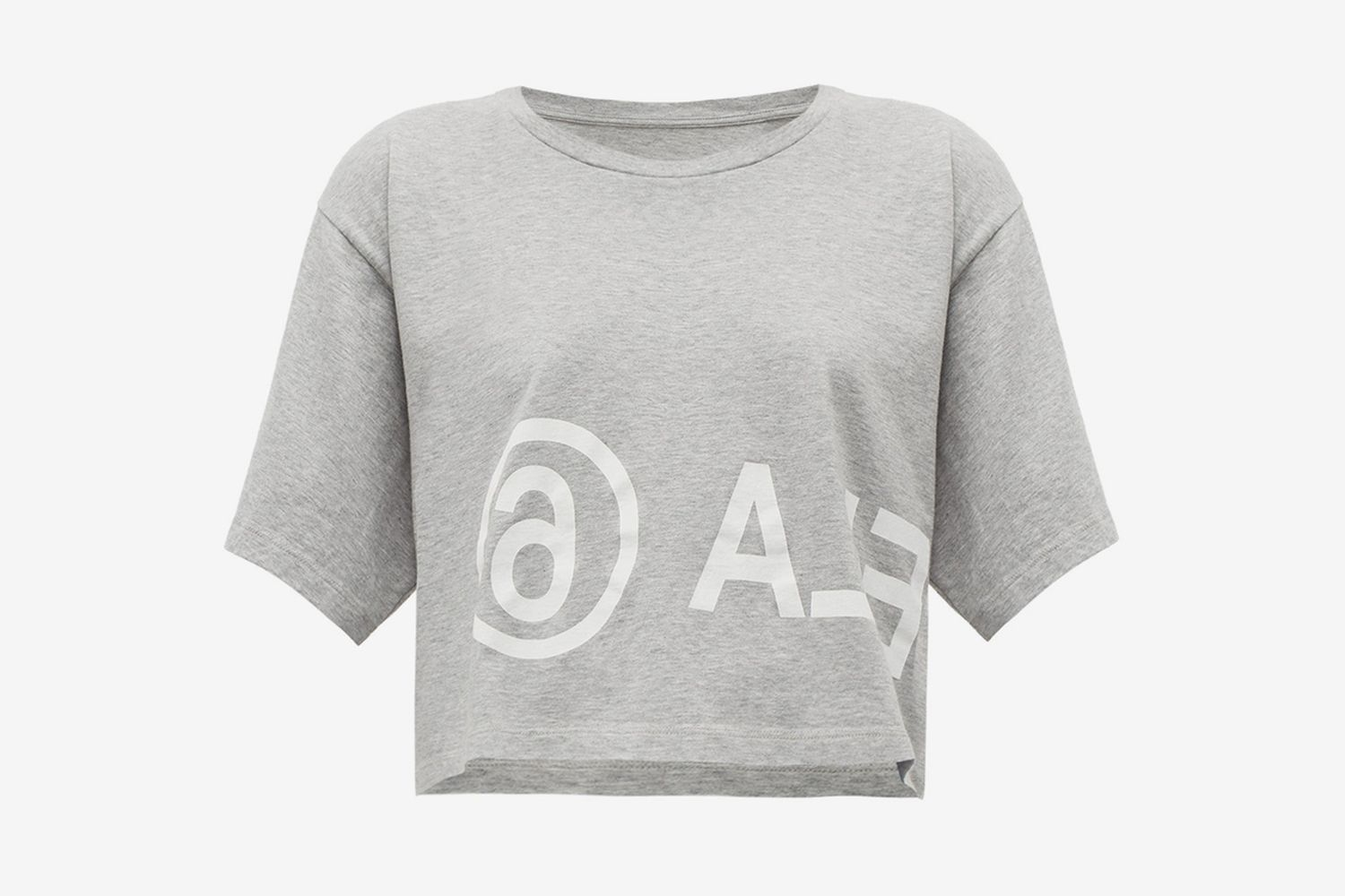 Logo-print Cropped Cotton-jersey T-shirt