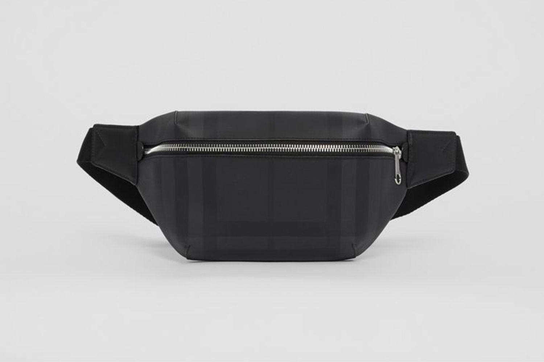 Medium London Check Leather Bum Bag