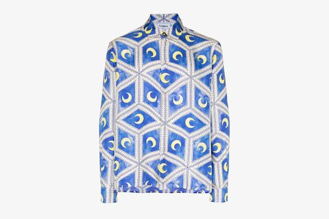 Moonlight Tiles Silk Shirt