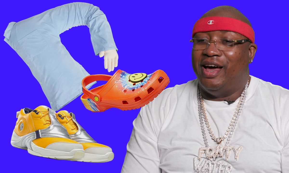 E-40 Plays 'Cop or Drop' With Eric Emanuel x Reebok Answer 5s & Faygo Cotton Candy Soda