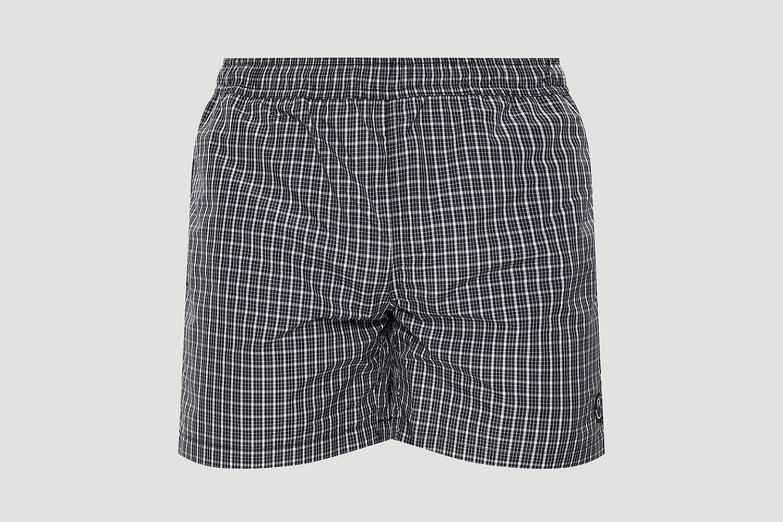 Check Print Swim Shorts