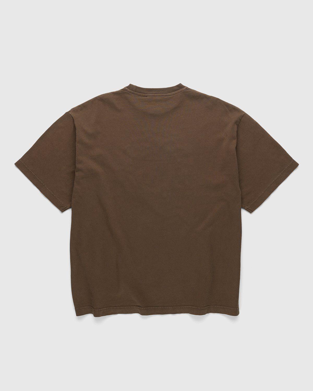 Acne Studios – Cotton Logo T-Shirt Chocolate Brown - Image 2